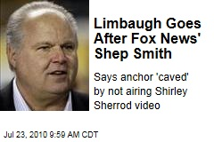 Limbaugh Goes After Fox News' Shep Smith
