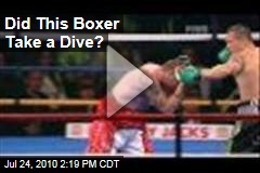 Did This Boxer Take a Dive?