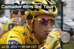 Contador Wins 3rd Tour
