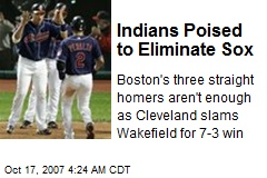 Indians Poised to Eliminate Sox