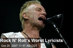 Rock N' Roll's Worst Lyricists