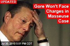 Gore Won't Face Charges in Masseuse Case