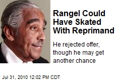 Rangel Could Have Skated With Reprimand