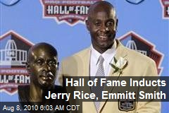 Hall of Fame Inducts Jerry Rice, Emmitt Smith