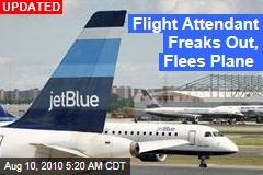 Flight Attendant Freaks Out, Flees Plane