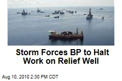 Storm Forces BP to Halt Work on Relief Well