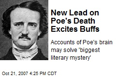 New Lead on Poe's Death Excites Buffs