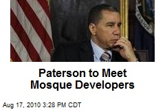 Paterson to Meet Mosque Developers