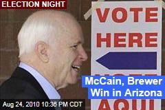 McCain, Brewer Win in Arizona