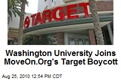 Washington University Joins MoveOn.Org's Target Boycott