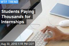 Students Paying Thousands for Internships