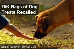 75K Bags of Dog Treats Recalled