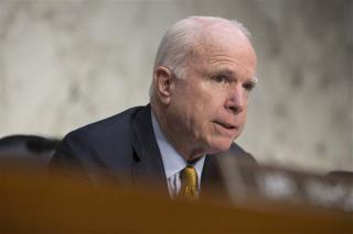 McCain Blames Russian Airstrikes on Obama