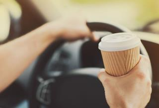 Driver's Alleged Crime: Drinking Coffee