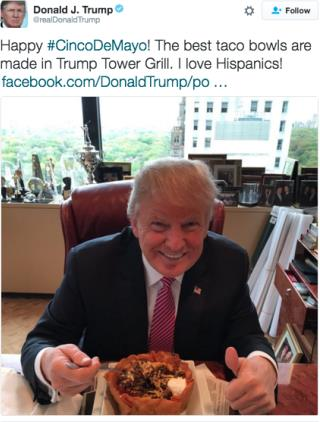 Trump Attempts Latino Outreach With Taco Bowl