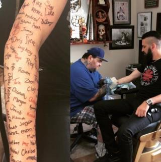 120 Kids' Suicide Notes Lead to This Musician's Inked Arm