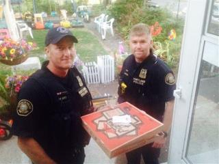 After Crash, Cops Deliver 'Shaken Yet Edible' Pizza
