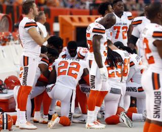 Cleveland Players Stage Biggest Anthem Protest Yet