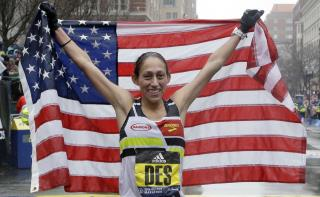 In Brutal Conditions, American Woman Wins Boston Marathon