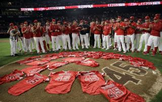 Angels' Tribute to Late Pitcher Has an Emotional Twist