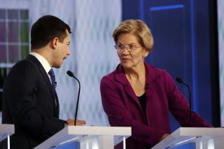 Things Get Testy Between Warren, Buttigieg