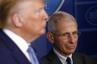 Fauci on Trump: 'I Can't Jump in Front of the Microphone'