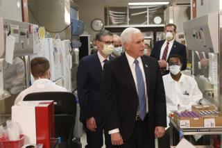 Mike Pence Ignores Mask Rule on Mayo Visit