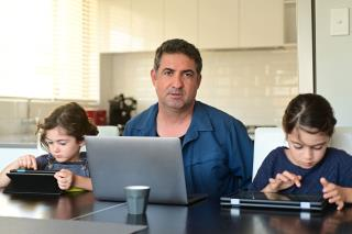 45% of Dads Say They Handle Homeschooling. Moms Disagree