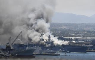 Blast Rocks US Navy Base