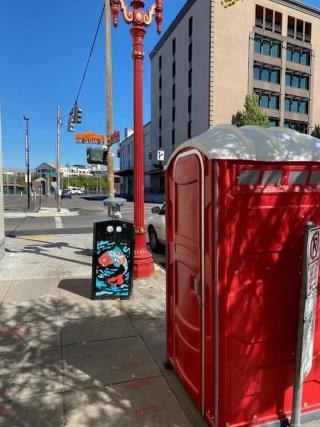 Port-a-Potties Are Being Stolen, Burned in Portland