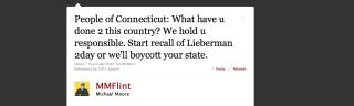 In Lieberman Rage, Michael Moore Urges Conn. Boycott