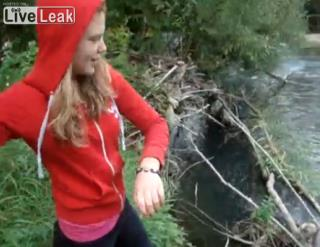 Teenage Girl Tosses Puppies Into River in Video | User Submitted