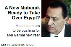 A New Mubarak Ready to Take Over Egypt?