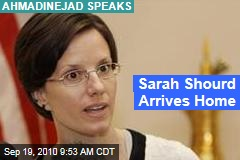 Sarah Shourd Arrives Home