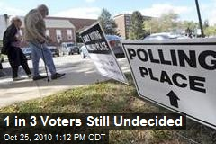 1 in 3 Voters Still Undecided