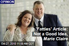 Marie Claire 'Fatties' Piece Comes Under Internet Fire