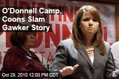 O'Donnell Camp, Coons Slam Gawker Story