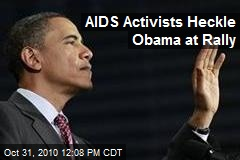 Obama Heckled by anti-AIDS Activists