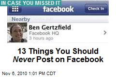 13 Things You Should Never Post on Facebook