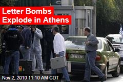 Letter Bombs Explode in Athens