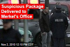 Suspicious Package Delivered to Merkel's Office