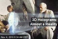 Real 3D Holographic Display Without Glasses