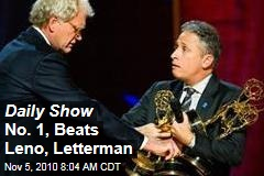 Daily Show No. 1, Beats Leno, Letterman