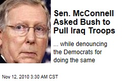 Sen. McConnell Asked Bush to Pull Iraq Troops