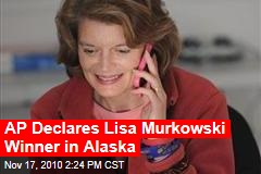 AP Declares Lisa Murkowski Winner in Alaska