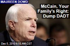 McCain, Your Family's Right: Dump DADT