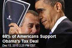69% of Americans Support Obama's Tax Deal