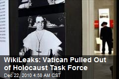 WikiLeaks: Vatican Pulled Out of Holocaust Task Force