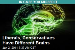 Liberals, Conservatives Have Different Brains