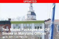 Two Packages Explode in Maryland State Buildings